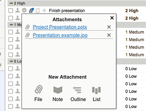 editing attachments to tasks
