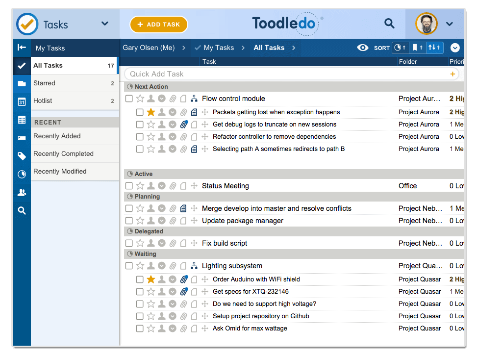 Online To Do List, Task Management, Note Taking & More | Toodledo